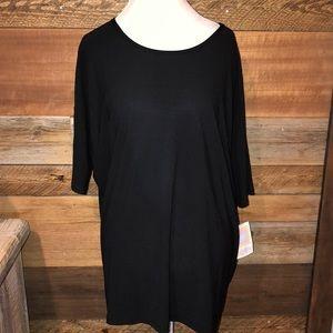 Lularoe Solid Black Irma NWT XL Dressier Knit